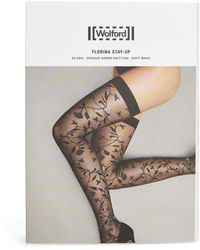 Wolford Florina Stay-up Stockings - Black
