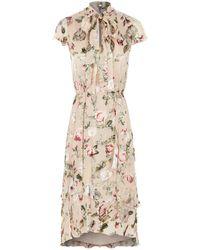 Alice + Olivia - Lavenia Floral Midi Dress - Lyst