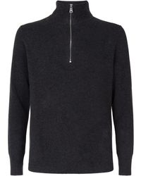 Burberry - Zipped Cashmere Jumper - Lyst