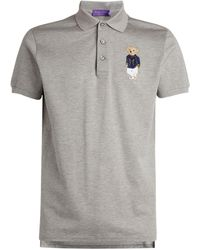 Ralph Lauren Polo Bear Polo Shirt - Gray