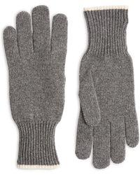 Brunello Cucinelli Cashmere Gloves - Grey