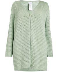 Marina Rinaldi Open-knit Cardigan - Green