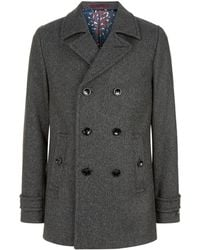 Ted Baker - Grilld Wool Peacoat - Lyst