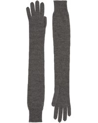 The Row Cashmere-silk Besede Gloves - Grey
