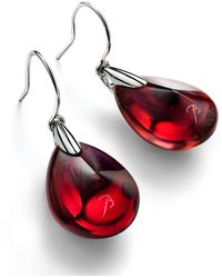 Baccarat Psydelic Crystal Drop Earrings - Red