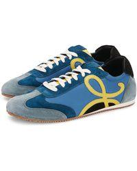 Loewe Leather Ballet Runner Trainers - Blue