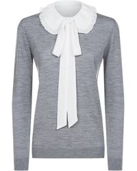 Claudie Pierlot | Removable Collar Sweater, Black, 3 | Lyst
