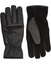 Moncler Leather Gloves - Black