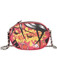 Moschino - Leather Fantasy Print Clutch Bag - Lyst
