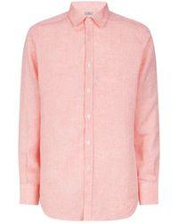 Canali - Linen Shirt - Lyst