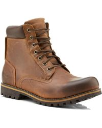 Timberland | Rugged Waterproof Plain Toe Boot | Lyst