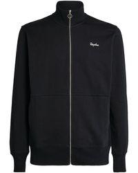 Rapha Cotton Logo Track Jacket - Black