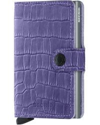 Secrid Cleo Leather Miniwallet - Purple