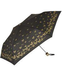 Harrods Gold Bow Umbrella - Black