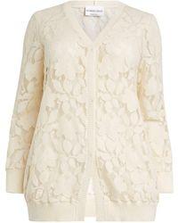 Giorgio Grati Floral Lace-embroidered Cardigan - Natural