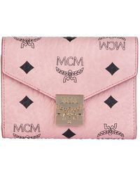 MCM Patricia Trifold Wallet - Pink
