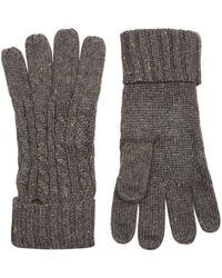 Dents - Cable Knit Gloves - Lyst