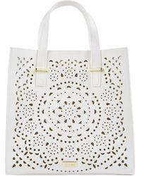 Harrods Cutwork Tote Bag - Multicolour