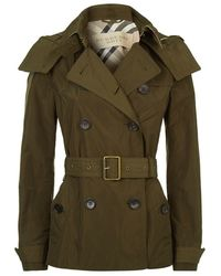 Burberry - Balmoral Hooded Short Trench Coat - Lyst
