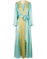 Rosamosario - Silk Lace Robe - Lyst