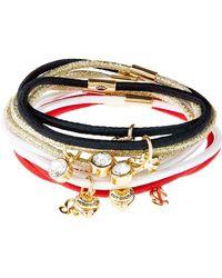 Juicy Couture - Charm Hair Ties (set Of 10) - Lyst