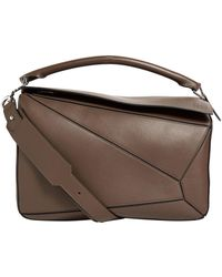 Loewe - Large Leather Puzzle Bag - Lyst