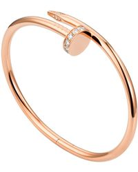 Cartier Pink Gold Juste Un Clou Pav Diamond Necklace - Metallic