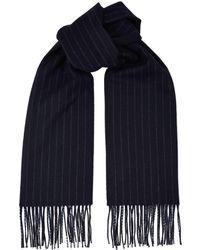 Canali - Wool Striped Scarf - Lyst