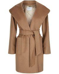 Max Mara - Hooded Camel Hair Coat - Lyst