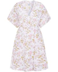 Thierry Colson - Floral Wrap Nightdress - Lyst