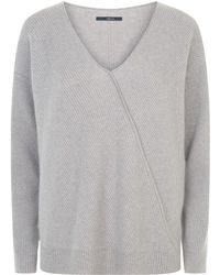 J Brand - Loran Ribbed Cashmere Sweater - Lyst