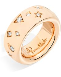 Pomellato - Medium Rose Gold And Diamond Iconica Ring - Lyst