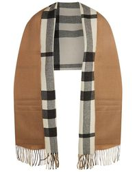 Burberry Helene Pocket Stole - Natural