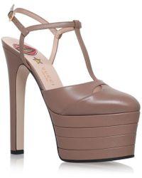 Gucci - Angel T-bar Platform Heels 160 - Lyst