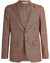 Pal Zileri Wool-linen Jacket - Brown
