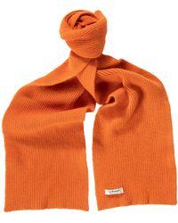 Le Bonnet Classic Lambswool Scarf - Orange
