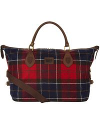 Barbour - Woolshadow Tartan Explorer Bag - Lyst