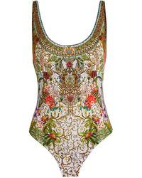 Camilla Reversible Swimsuit - Green