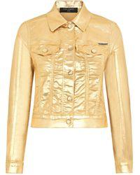 Dolce & Gabbana Metallic Denim Jacket