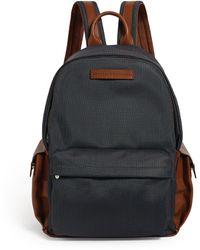 Brunello Cucinelli Leather-trim Backpack - Grey