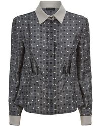 Emporio Armani - Printed Silk Shirt - Lyst