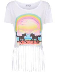 Wildfox - Pony Dream Rider Festival Fringe T-shirt - Lyst