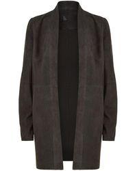 Eileen Fisher - Open Front Suede Jacket - Lyst