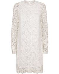 R/R Studio - Embroidered Lace Long Sleeve Dress - Lyst