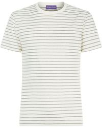 Ralph Lauren Purple Label - Striped T-shirt - Lyst