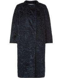 Max Mara Astraka Faux Fur Coat - Multicolour