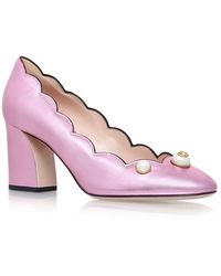 Gucci - Pearl Embellished Willow Court Shoes - Lyst