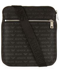 Armani Jeans - Logo Print Bag - Lyst