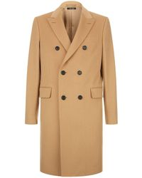 Dunhill - Double Breasted Wool And Cashmere Coat - Lyst