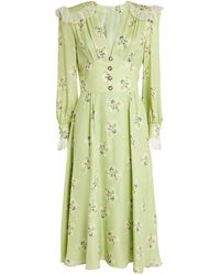 Alessandra Rich - Ruffle-detail Floral Dress - Lyst